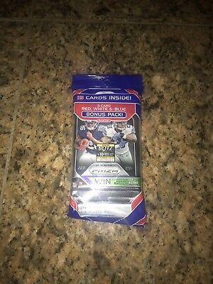 2018 Panini Prizm Football 15 Ct. Card Fat Pack Red White Blue Prizms Free Ship!