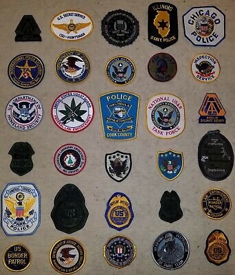 Lot of 30 - Police Sheriff Fire EMS Federal Law Assorted Patch Patches Wholesale