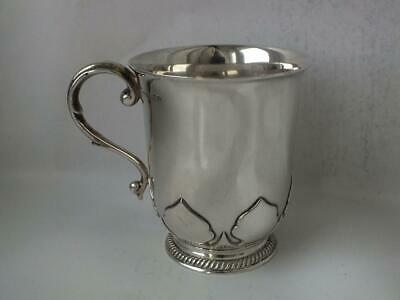 Antique Solid Sterling Silver Cup/ Mug 1911/ H 8.6 cm/ 216 g