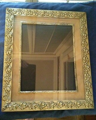"Antique Unique Art Nouveau Arts & Crafts Silverplate Large 14"" Photo Frame"