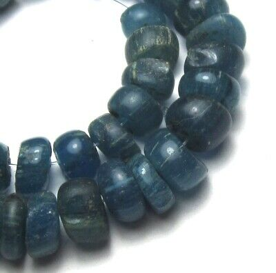 36 Rare Stunning Small Ancient Translucent Aqua D'jenne Mali Glass Beads
