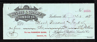 9M1031 - 1892 Hughes & Guthrie Lumber Co. - Indiana, Pa