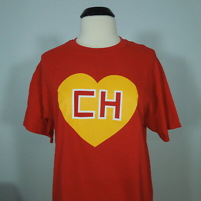 EL CHAVO EL CHAPULIN CH Colorado T-Shirt Red Mexican Comedian Men's size L (NEW)