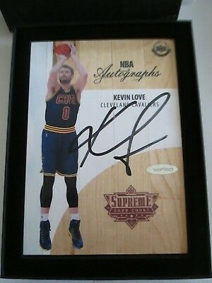 official photos b208f 220ac 2016-17 Nba Uda Supreme Hard Court Kevin Love Auto On Game Used Floor 2005