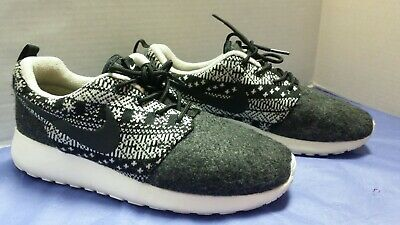 2bf3b1299a414 Nike Roshe Run One Winter Aztec Printed Shoes Black 685286-001 Women s  Sneakers