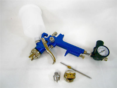 HVLP Gravity Feed HVLP Spray Gun 20 oz cup Paint w/regulator