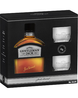 Gentleman Jack Tennessee Whiskey & 2 Glass Pack Whisky 700mL pack