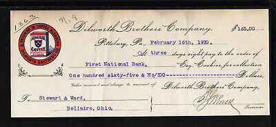 9Y1655 - 1910 Dilworth Brothers Co. - First National Bank -  Pittsburg, Pa