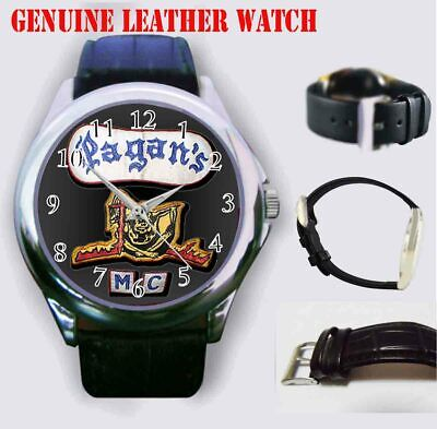 Rare Pagan's MC Men's sport leather watch High Quality