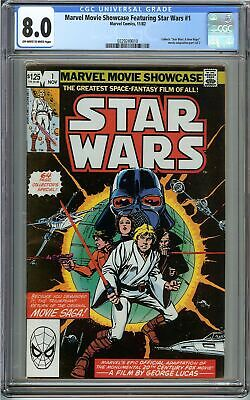 Marvel Movie Showcase Featuring Star Wars #1 CGC 8.0 A New Hope Movie Adaptation