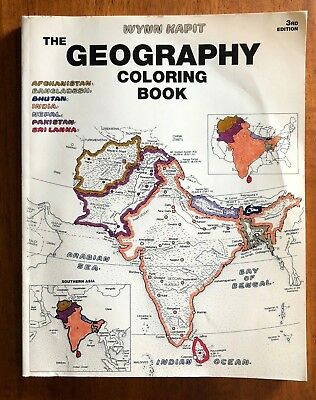 GEOGRAPHY COLORING BOOK (3rd Edition) by Kapit, Wynn - $14.95 | PicClick