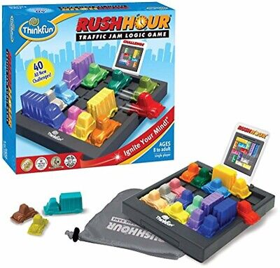 ThinkFun Rush Hour Traffic Jam Logic Game and STEM Toy for Boys and Girls Age 8