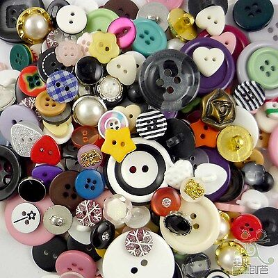 50pcs Assorted Round Resin Buttons Craft-Scrapbook-Embellishment-Sew Cards