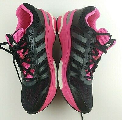 huge selection of c4153 7ce7a Adidas Supernova Sequence Boost Women s Size 9.5 B Running Shoes Black Pink   213