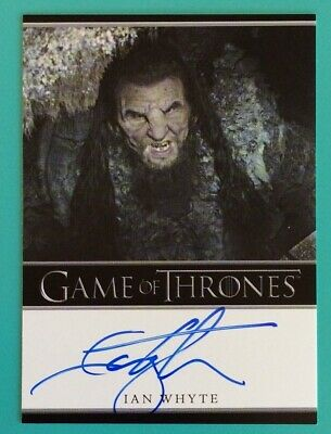 GAME OF THRONES SEASON 5 IAN WHYTE as WUN WUN AUTOGRAPH CARD