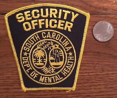 Department Of Mental Health (Security) South Carolina Police / Sheriff Patch