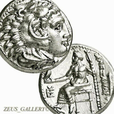 Rare ALEXANDER the Great Lifetime Coin Ancient Greek Silver Drachm Herakles