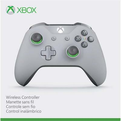 Brand New Xbox Wireless Controller - Grey/Green Textured Grip WL3-00060