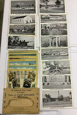 Camp Edwards Massachusetts WWII 1940s Postcards Lot Of 22 Unused Post Cards