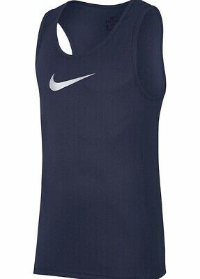 91a04cadb04f Nike Dri Fit Basketball Tank Top Men s Size Large Navy Blue Active Shirt  NWT C5