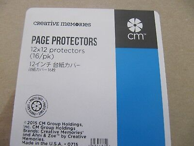 Creative Memories 12x12 Page Protectors x 3 Packets