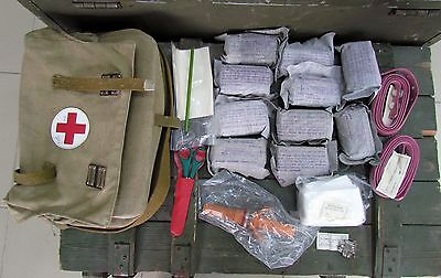Authentic Soviet Russian USSR Army Medic Bag. First Aid. Rare.Complete set! New!