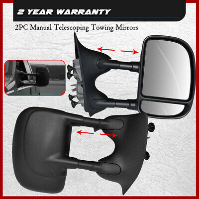 For 1999-2007 Ford F250-F550 Super Duty Towing Telescoping MANUAL Side Mirrors