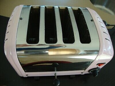 Dualit Classic 4 Slot Toaster in  Pink /stainless steel