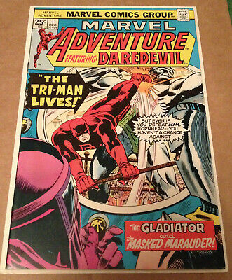 Marvel Adventures # 1 - Daredevil Stories Begin / Scarce Nd In Uk - Marvel 1975