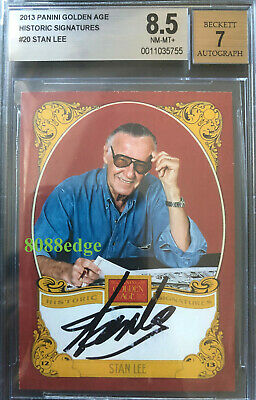 "2013 Golden Age Historic Signature Auto: Stan Lee ""Marvel"" Autograph Bgs 8.5"