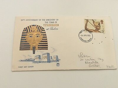 Tutankhamen At Thebes Postage Stamp On 1972 1St Day Cover Collectable Envelope