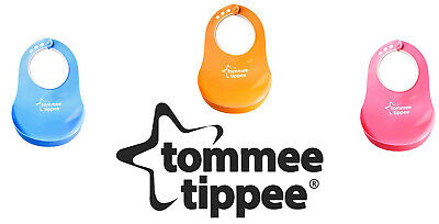 Tommee Tippee Baby Feeding Bib Comfi Neck Catch All Bibs Plastic Pelican