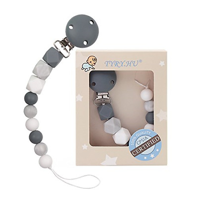 TYRY.HU Baby Pacifier Clips BPA Free Teether Soother Pacifier Chain Holders Clip