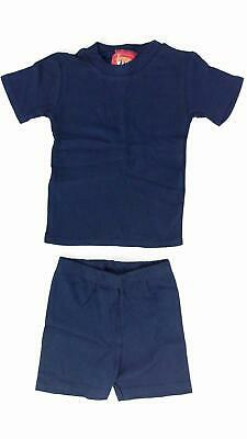 Newport Kidz 2 PC Outfit Unisex Shirt Shorts Baby size 18 MO Blue Solid DEALS
