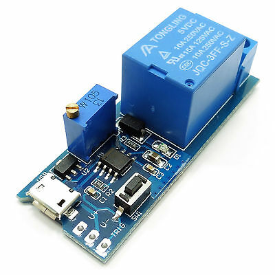 5V -30V Micro USB Power Timer Control Module Delay Relay Trigger Delay Switch