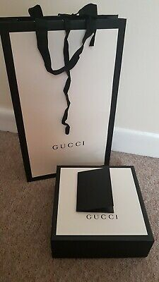 100% Authatic Gucci Belt Box With Carrier Bag And Evolop Set 18.5/18.5/7.5cm