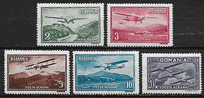 Romania ,  1931, Airmail , Set Of 5 , Perf , Vlh