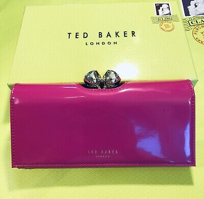47fb5b10448b Ted Baker Women Purse Twisted Bobble Patent Matinee Bright Pink RRP£85