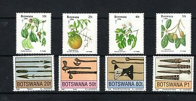 Botswana 1994 Christmas fruit & 1996 traditional weapons sets mm