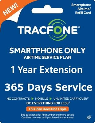 TRACFONE ACTIVATION + 395 Days Airtime 1 Year Service