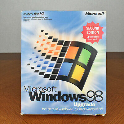 MICROSOFT WINDOWS 98 Upgrade Second Edition CD and Book with Product Key