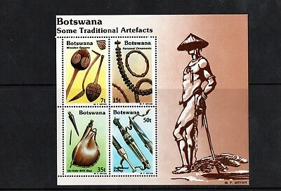 1983 Botswana Traditional Artifacts set in M/S UM