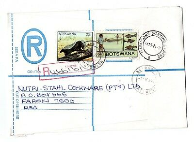 1995 Botswana Registered envelope with red oblong registered cancel from Serowe