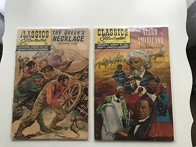 Lot Of 2 Classics Illustrated:  The Queen's Necklace & Negro Americans