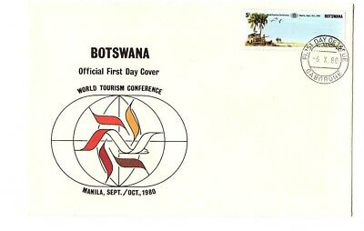 Botswana 1980 World tourism conference set on FDC with Gaborone cds
