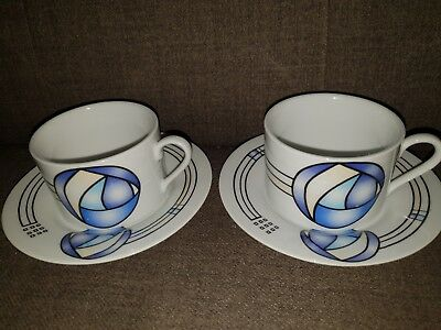 The Table Top Company Cups And Saucers, Retro, Art Deco
