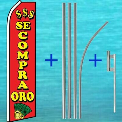 se compra oro King Swooper Feather Flag Sign Pack of 10 Hardware not Included