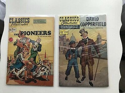 Lot Of 2 Classics Illustrated: The Pioneers & David Copperfield