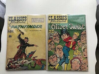 Lot Of 2 Classics Illustrated:  The Pathfinder & Oliver Twist