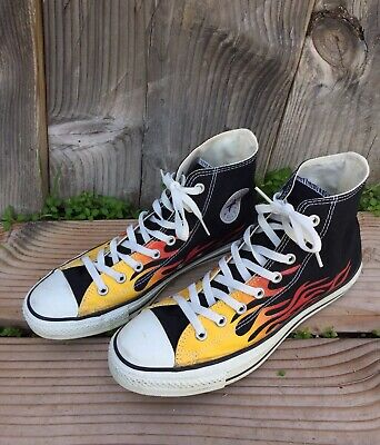 ffe56827f43 CONVERSE FLAMES CHUCK Taylor All Stars Size UK6 Rare Vintage 90 s ...